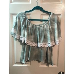 NWOT off the shoulder tie dye top.